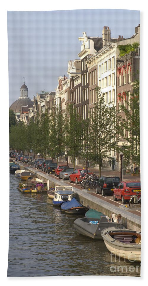 Amsterdam Beach Towel featuring the photograph Amsterdam Canal by Andy Smy