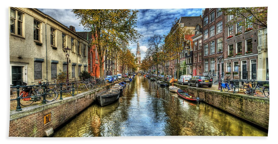 Amsterdam Beach Towel featuring the photograph Amsterdam by Svetlana Sewell