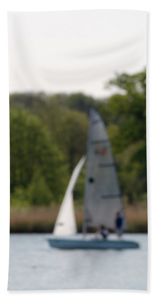 Dinghy Beach Towel featuring the photograph An Afternoons Sailing by Chris Day