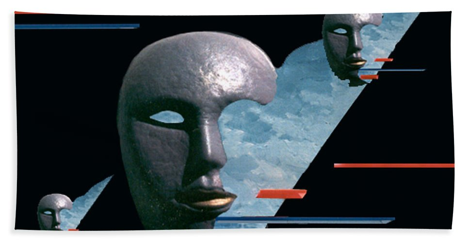 Surreal Beach Towel featuring the digital art An Androids Dream by Steve Karol