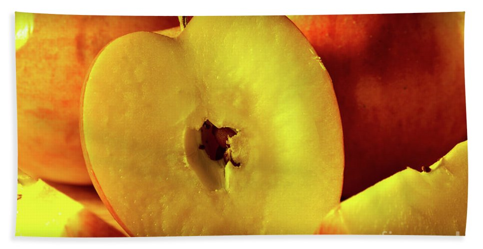 Food Beach Towel featuring the photograph An Apple A Day by Brian Roscorla