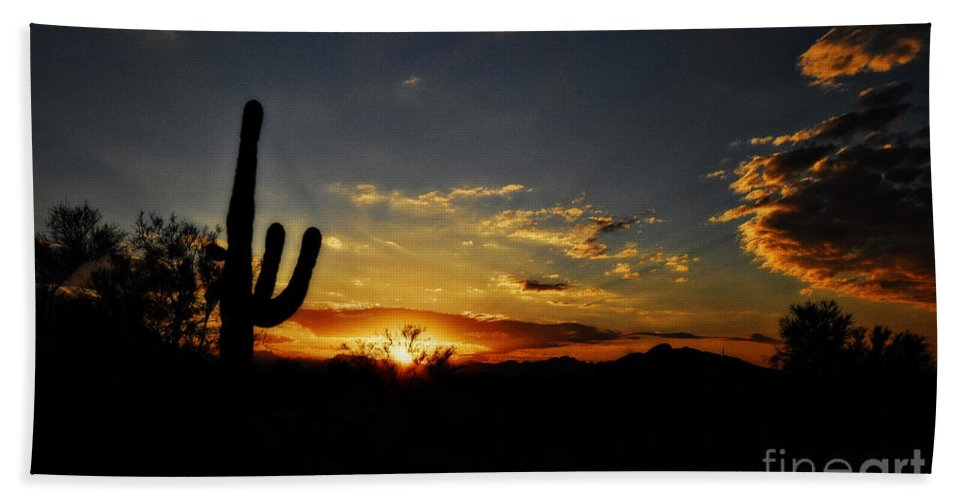 Arizona Beach Towel featuring the photograph An Arizona Sunrise by Saija Lehtonen