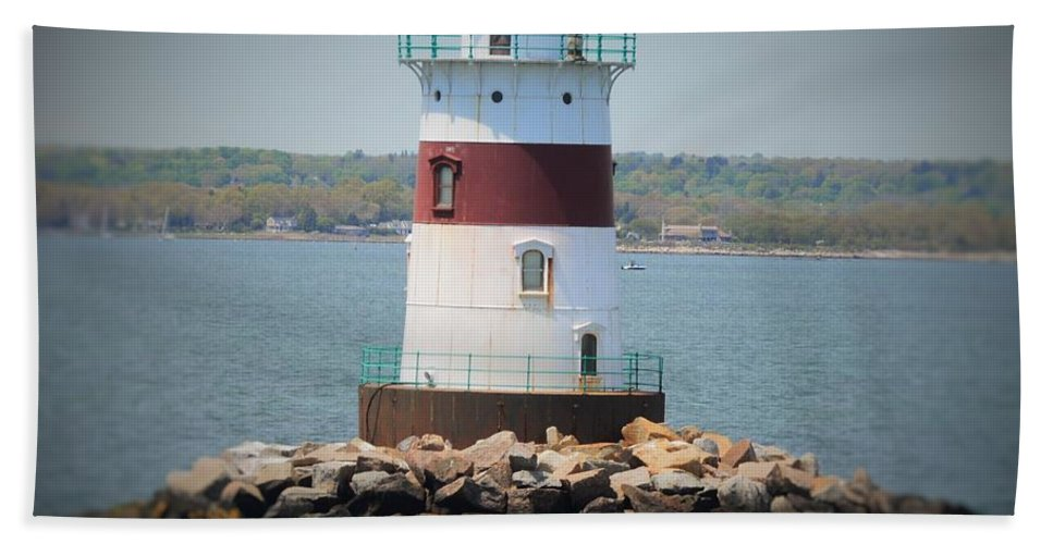 Lighthouses Beach Towel featuring the photograph Lights Out by Charles HALL