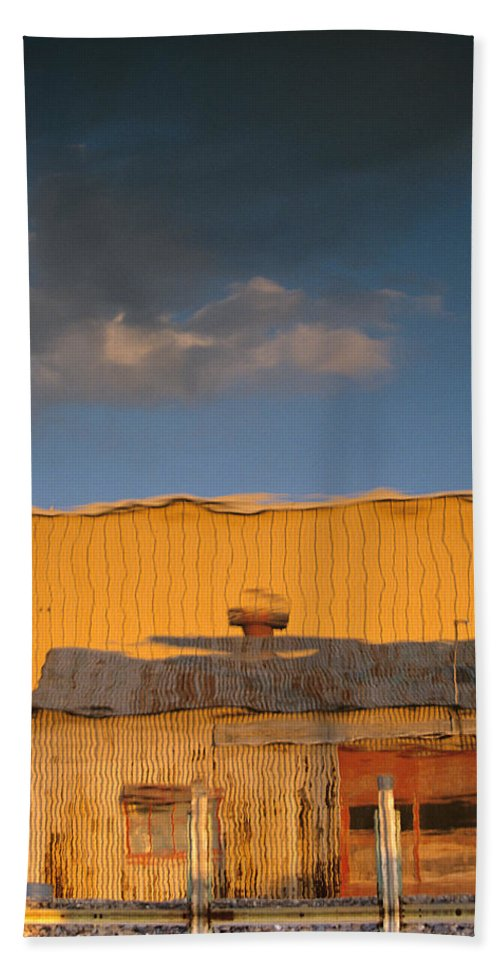 Dock Beach Towel featuring the photograph An Illusion Created By A Reflection by John Harmon