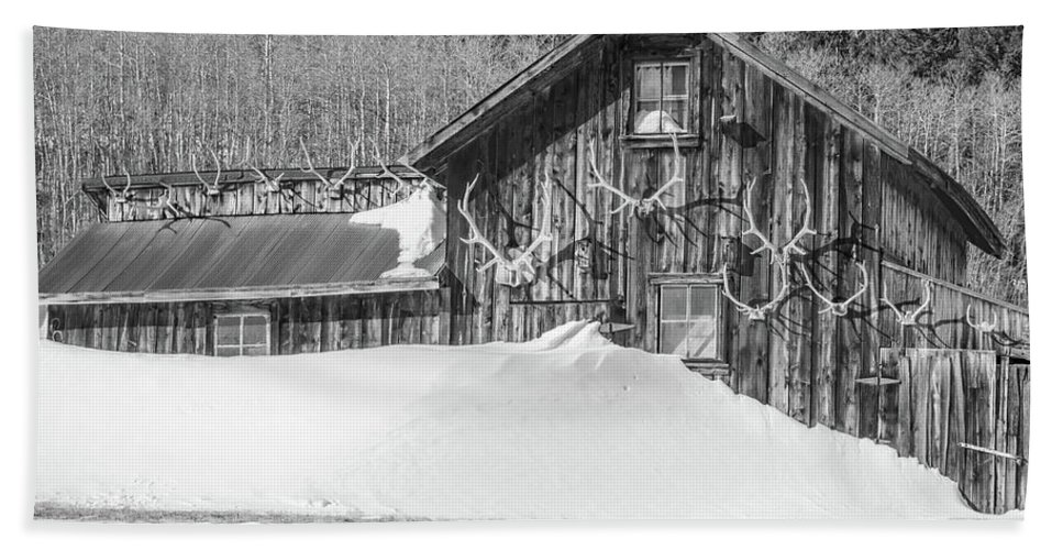 Historic Barns Beach Towel featuring the photograph An Obdurate Sinner Lives Here. B And W  by Bijan Pirnia