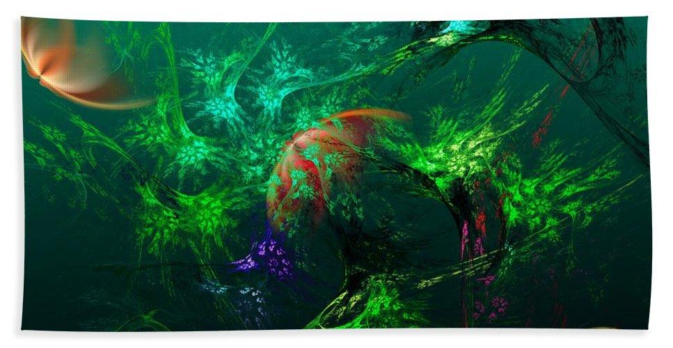 Fine Art Beach Towel featuring the digital art An Octopus's Garden by David Lane