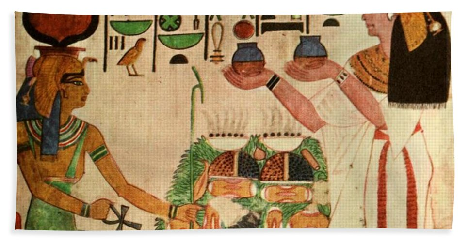 Ancient - Egyptian Wall Paintings 1956, Tomb Of Queen Nefertari ...