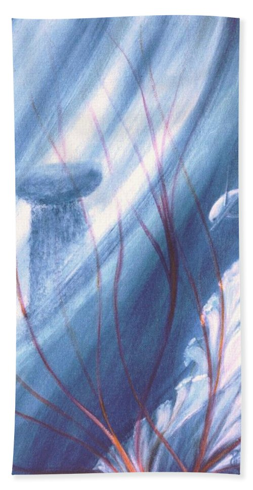 Underwater Seascape Beach Towel featuring the painting Ancient Latte by Dina Holland