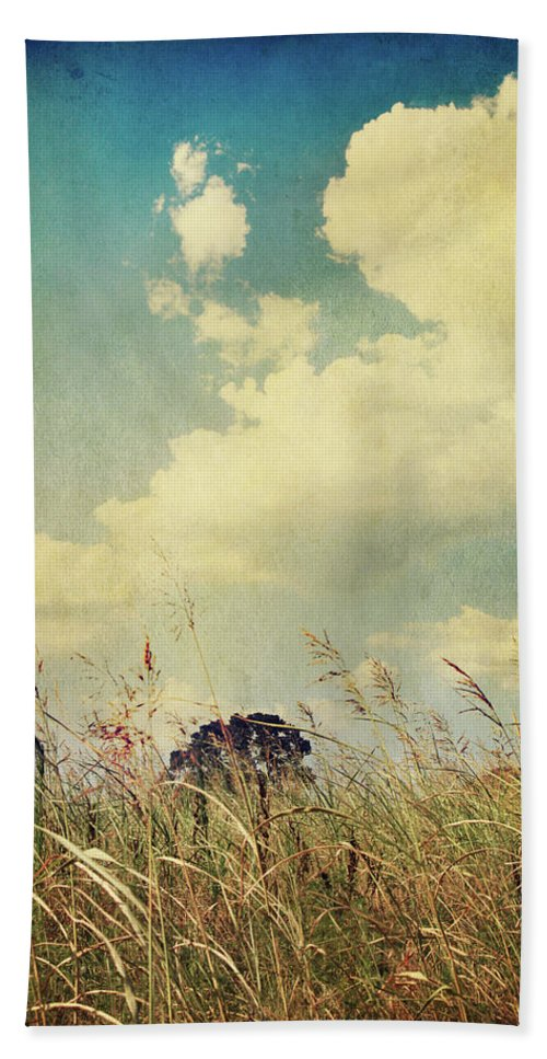 Clouds Beach Towel featuring the photograph And The Livin's Easy by Laurie Search
