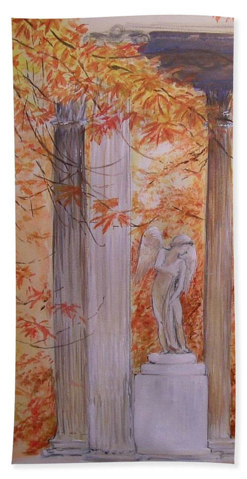 Angel Beach Towel featuring the painting Ange Petit Trianon Versailles by Lizzy Forrester