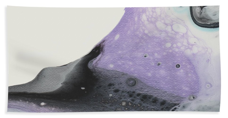 Violet Beach Towel featuring the painting Angel Aura by Pamela Johnson Design