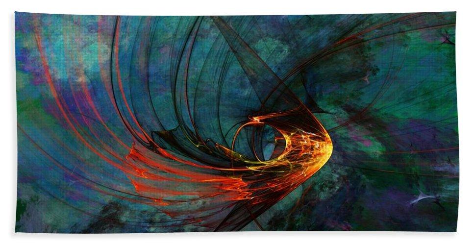 Fine Art Digital Art Beach Towel featuring the digital art Angel From The Deep by David Lane