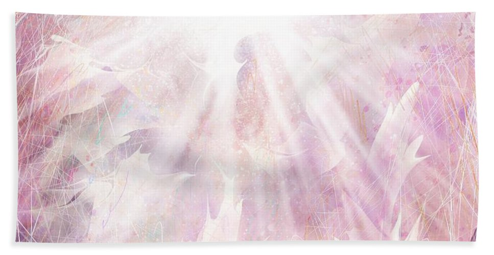 Angel Beach Towel featuring the digital art Angel by William Russell Nowicki