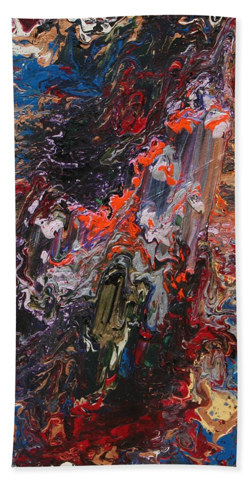 Fusionart Beach Sheet featuring the painting Angel Rising by Ralph White