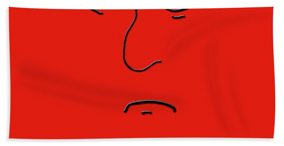 Anger Beach Towel featuring the digital art Anger by Methune Hively