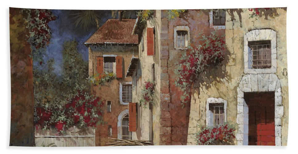 Night Beach Towel featuring the painting Angolo Buio by Guido Borelli