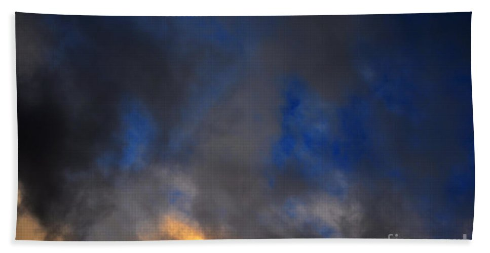 Clay Beach Towel featuring the photograph Angry Sky by Clayton Bruster