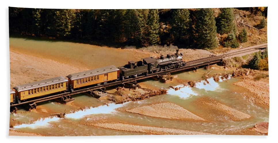 Animas River Beach Towel featuring the photograph Animas River Crossing by David Lee Thompson