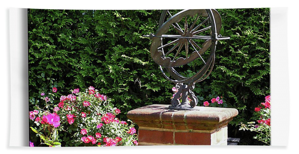 2d Beach Towel featuring the photograph Annapolis Garden Ornament by Brian Wallace