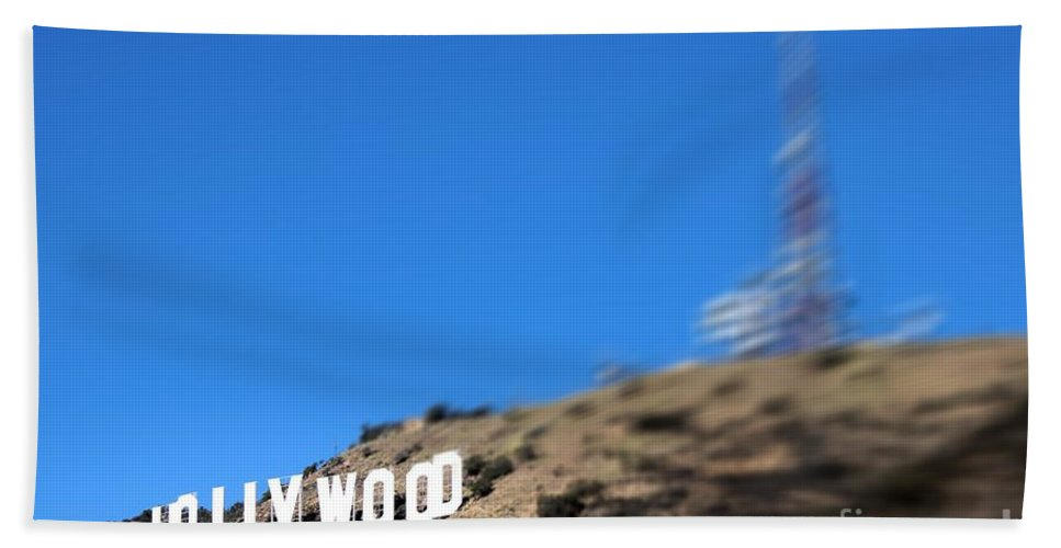 Landmark Beach Towel featuring the photograph Another Hollywood Sign by RJ Aguilar
