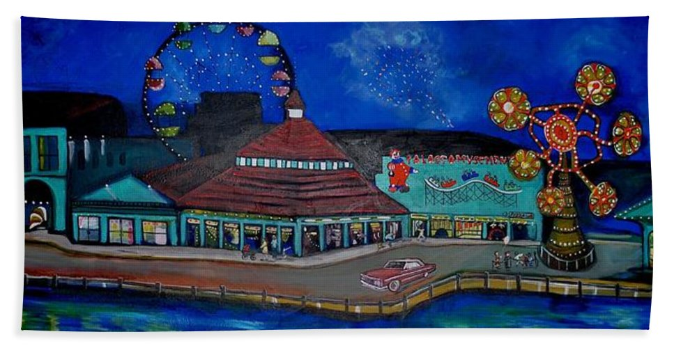 Asbury Art Beach Towel featuring the painting Another memory of the Palace by Patricia Arroyo