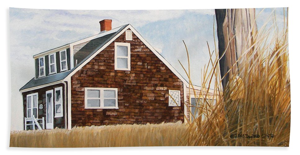 Landscape Beach Sheet featuring the painting Another New England Sunrise by Dominic White