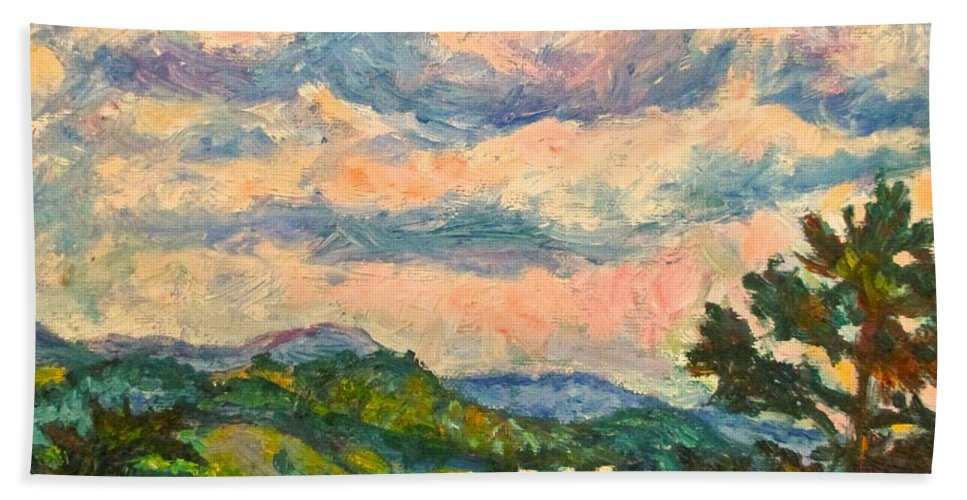 Landscape Paintings Beach Sheet featuring the painting Another Rocky Knob by Kendall Kessler