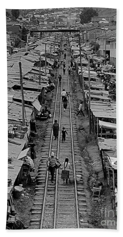 Railroad Tracks Through Cuzco Beach Towel featuring the photograph Another Side Of Cuzco-signed-#008 by J L Woody Wooden