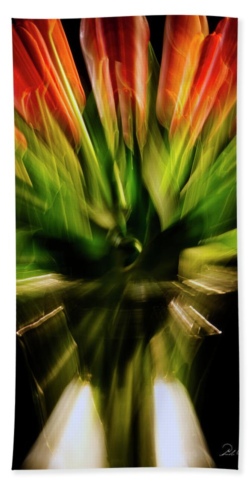 Photography Beach Towel featuring the photograph Another Tulip Explosion by Frederic A Reinecke
