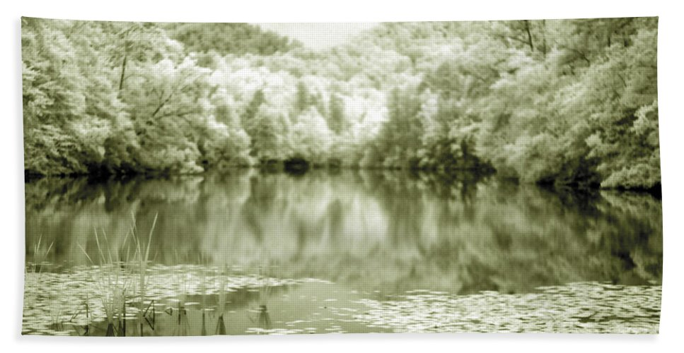 Infrared Beach Towel featuring the photograph Another World by Alex Grichenko