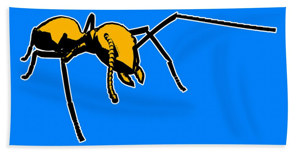 Ant Beach Towel featuring the painting Ant Graphic by Pixel Chimp