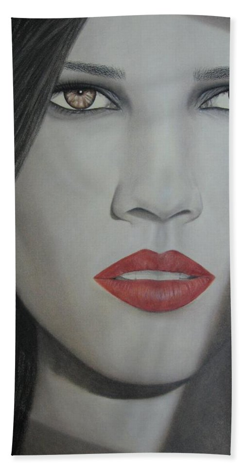 Woman Beach Towel featuring the painting Anticipation by Lynet McDonald