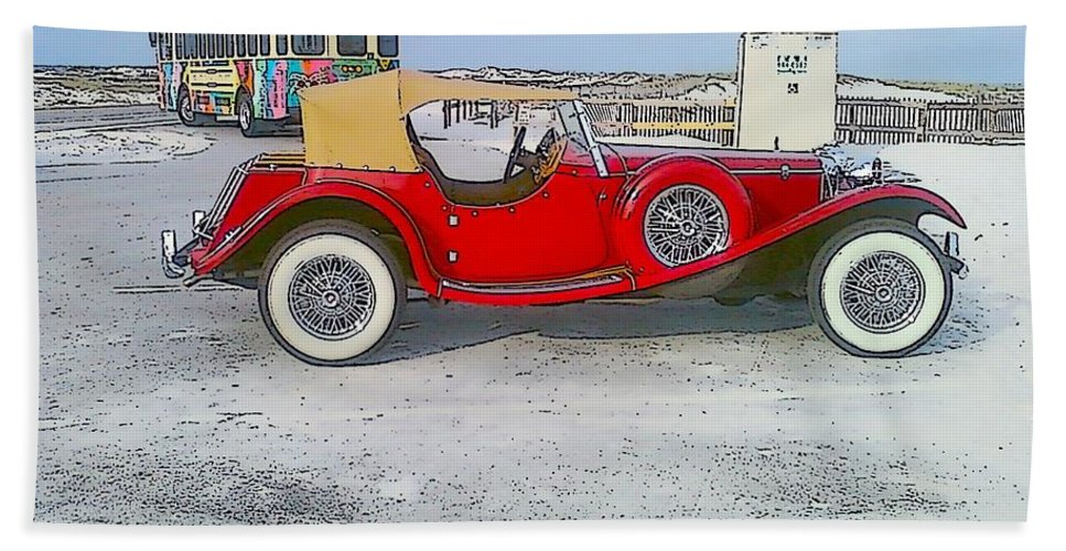 Old Car Beach Towel featuring the photograph Antique Car by Michelle Powell