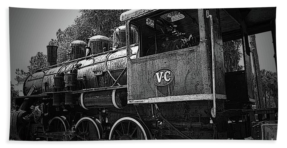 Locomotive Beach Towel featuring the photograph Antique Loco by Jost Houk