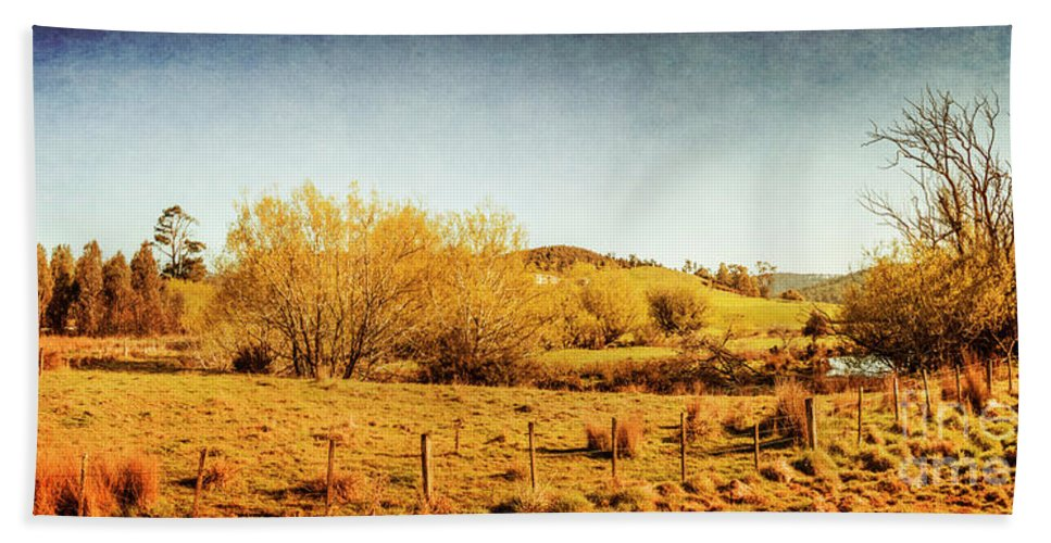 Panoramic Beach Towel featuring the photograph Antique Weathered Countryside by Jorgo Photography - Wall Art Gallery