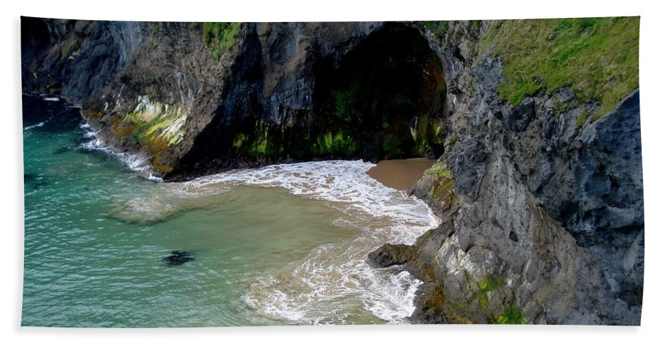 Home Decor Beach Towel featuring the photograph Antrim Coast by Catherine Turner