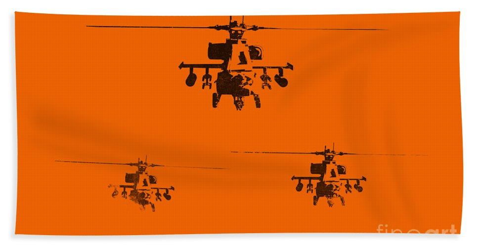 Apache Beach Towel featuring the painting Apache Dawn by Pixel Chimp