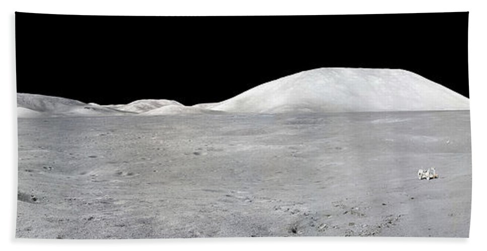 No People Beach Towel featuring the photograph Apollo 17 Panorama by Stocktrek Images