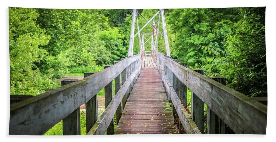 Bridge Beach Towel featuring the photograph Appalachian Bridge by Dana Foreman