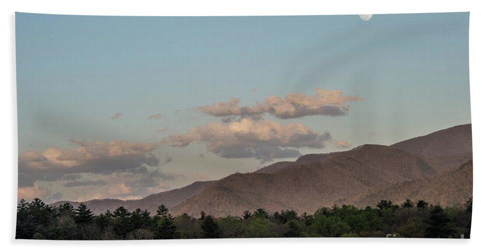 Beach Towel featuring the photograph Appalachian Moonrise by Bernd Billmayer