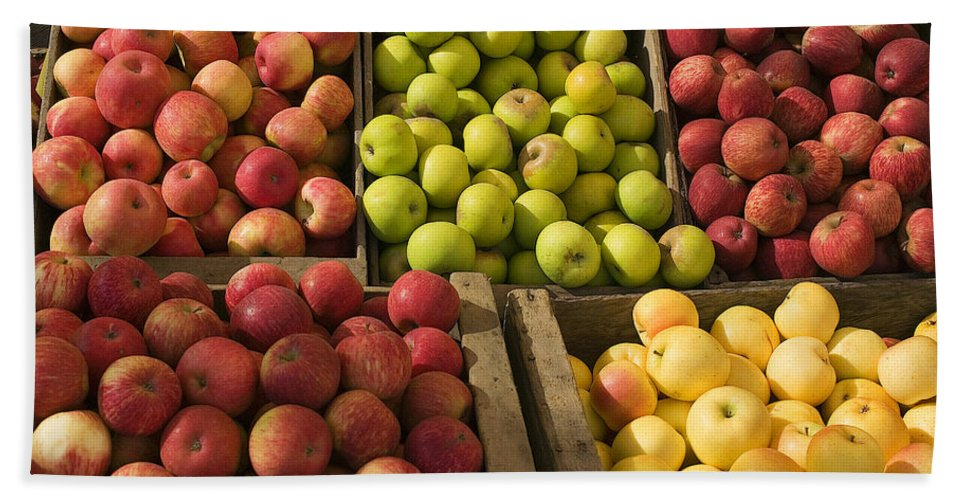 Apple Beach Towel featuring the photograph Apple Harvest by Garry Gay