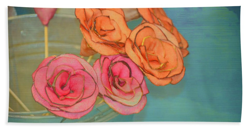 Flowers Beach Towel featuring the photograph Apple Roses by Traci Cottingham