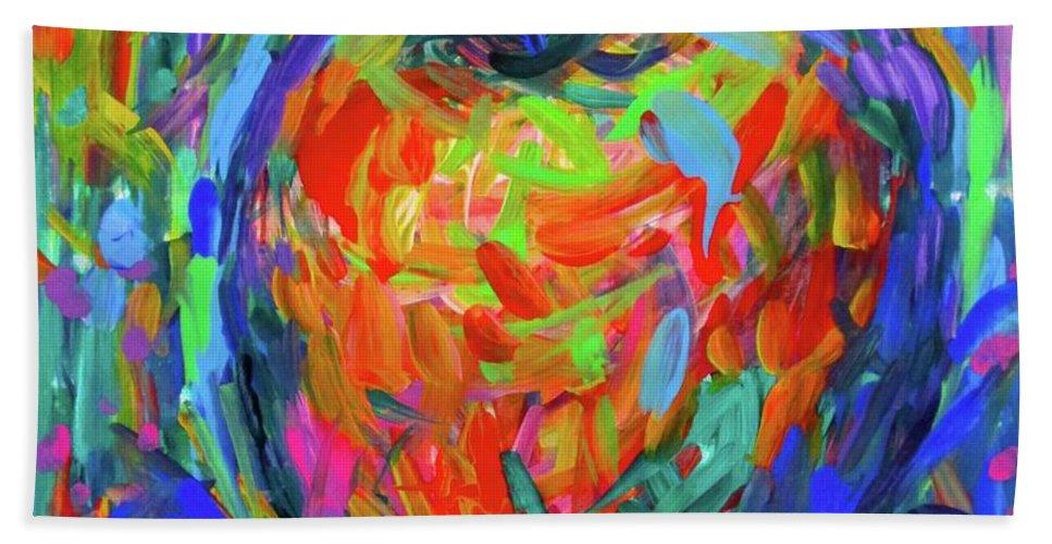 Apple Beach Towel featuring the painting Apple Splash by Kendall Kessler