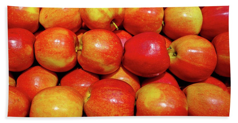 Apples Beach Towel featuring the photograph Apples by Robert Meyers-Lussier