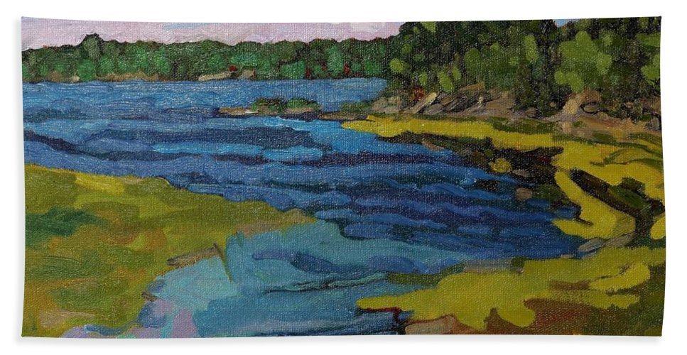 1238 Beach Towel featuring the painting Aqua by Phil Chadwick