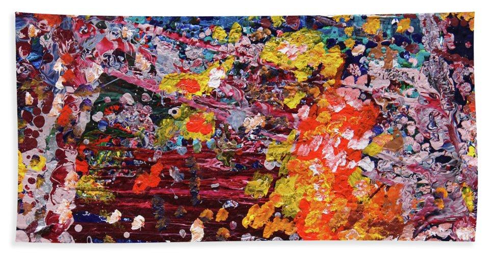 Fusionart Beach Towel featuring the painting Aquarium by Ralph White
