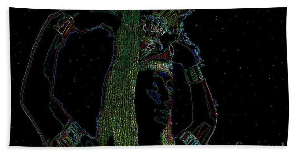 Aquarius Beach Towel featuring the painting Aquarius by David Lee Thompson
