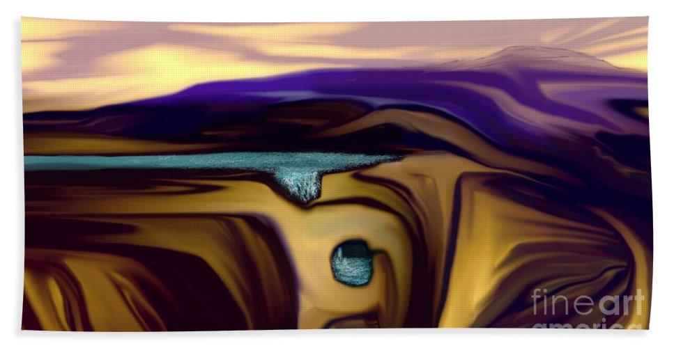 Abstract Beach Towel featuring the digital art Aquifer by David Lane