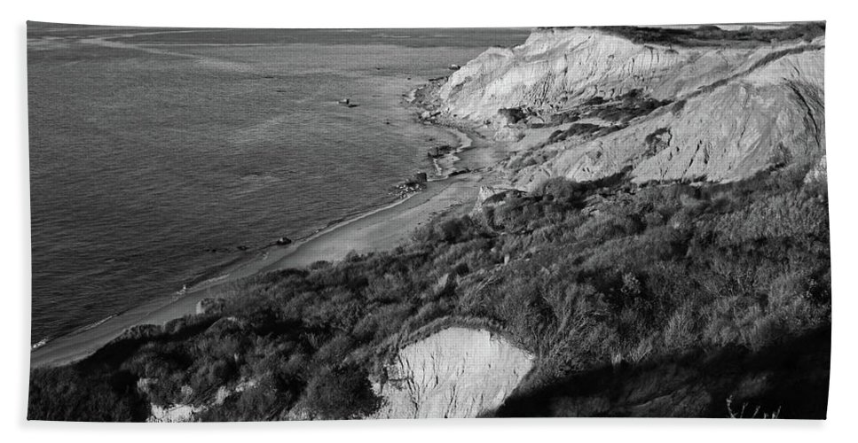 Aquinnah beach sheet featuring the photograph aquinnah cliffs at sunset marthas vineyard cape cod black and