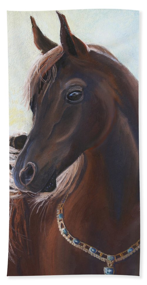 Horse Beach Towel featuring the painting Arabian Prince by Heather Coen